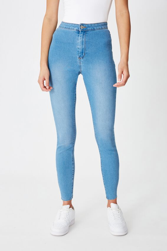 Super Skinny Sky High Jean, LAGUNA BLUE