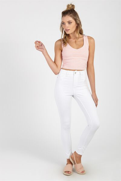 The Skinny Denim Jean, CLEAN WHITE