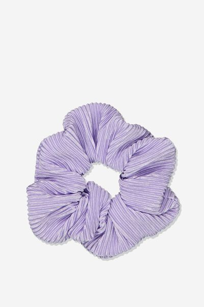 Scrunchie, PLEATED PERIWINKLE