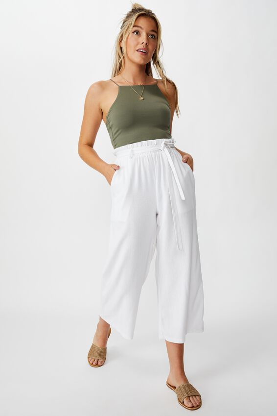 Ivanah High Neck Crop, GUM LEAF KHAKI