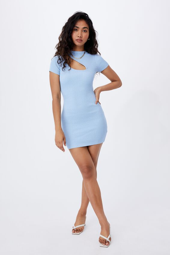 Mira Mini Dress, BONNIE BLUE