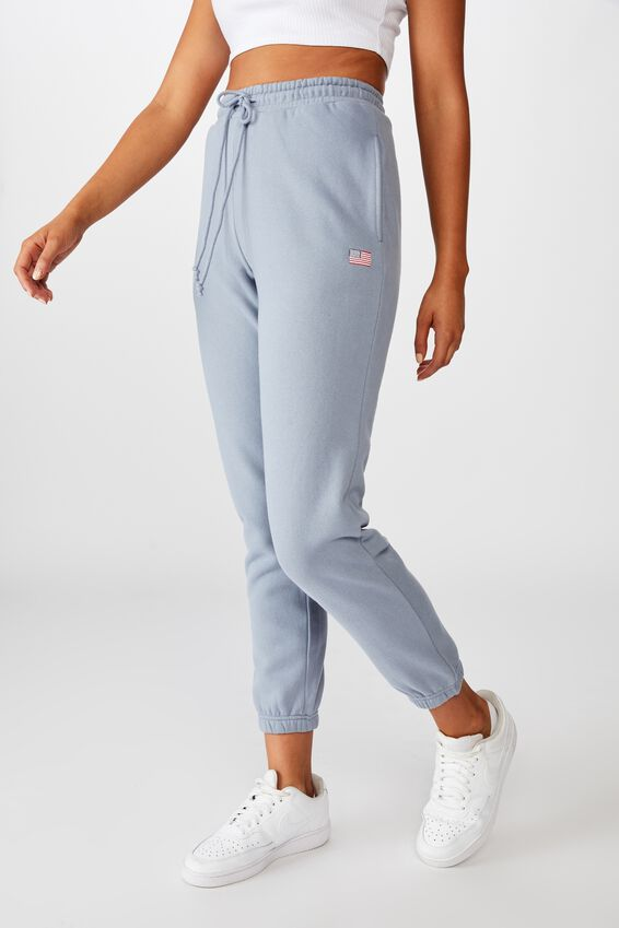 Classic Track Pants, BLUE GREY/USA FLAG