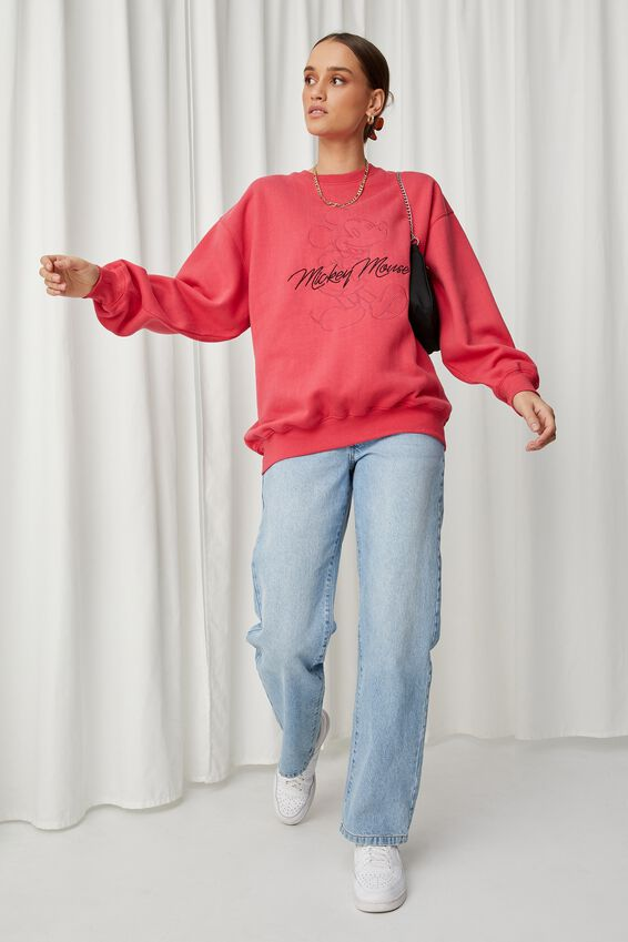 Mickey Oversized Jumper, RETRO RED/LCN DIS MICKEY CLASSIC