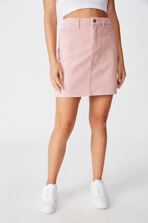 Remi Cord Mini Skirt, ANTIQUE ROSE