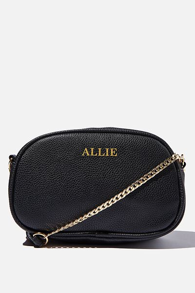 Customised Josie Cross Body Bag, BLACK PEBBLE