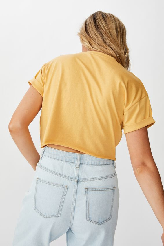 Tamara Graphic Crop Tee, SUNFLOWER/1847 ATLANTA