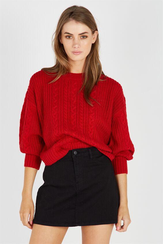 Ivy Bell Sleeve Knit Jumper | Tuggl