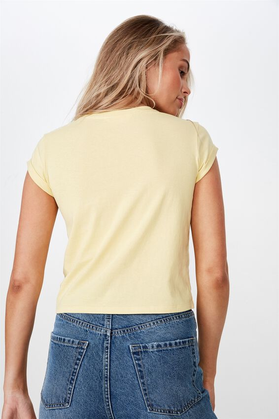Baby Tee, CANARY YELLOW