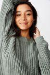 Lennon Crew Knit Sweater, DEEP SAGE