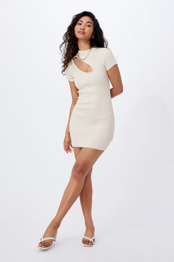 Mira Mini Dress, COOKIE CREAM