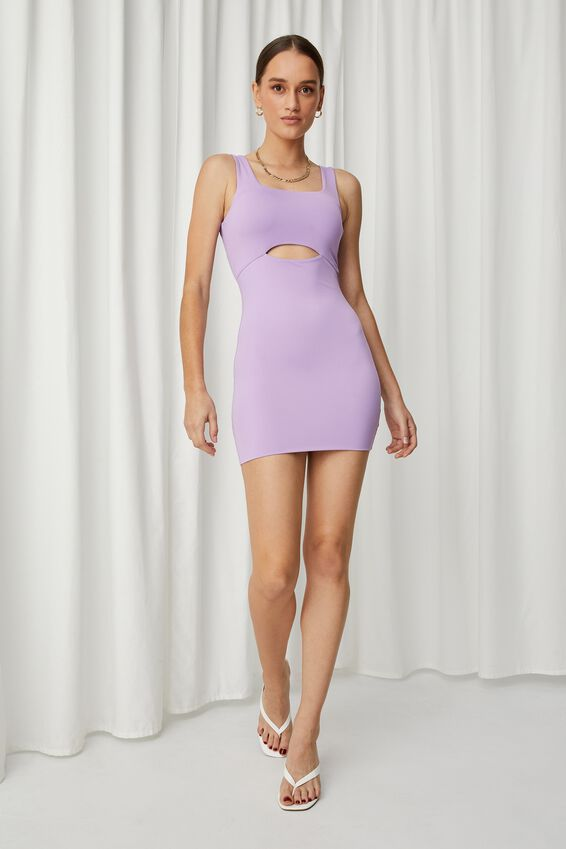 Chrissy Cutout Mini Dress, AMYTHYST