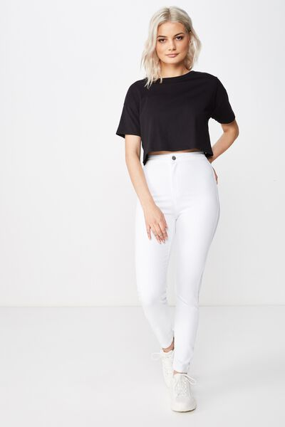 Short Super Skinny Sky High Jean, WHITE