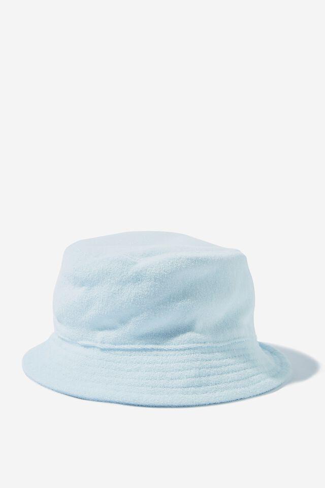 Tori Bucket Hat, HORIZON BLUE TOWELLING