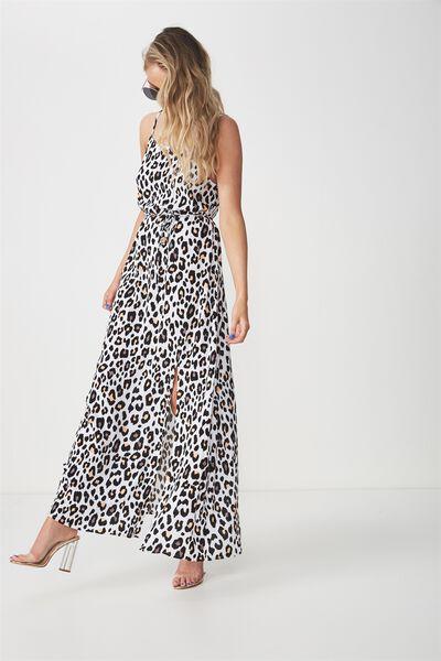 Strappy Maxi Dress, FIRE LEOPARD