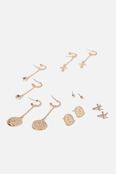 Chain Stud Pack, GOLD