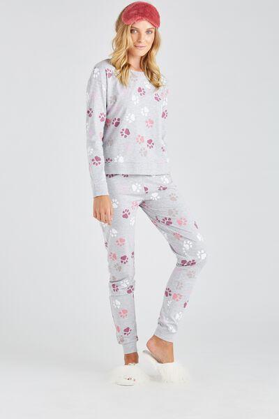 Printed Sleep Pant, GREY/PAWS