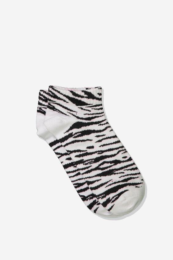 Rib Ankle Socks, PINK TIGER