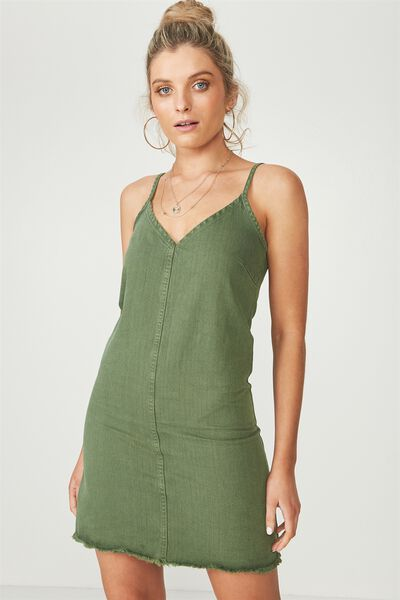 The Falls Denim Dress, OLIVE