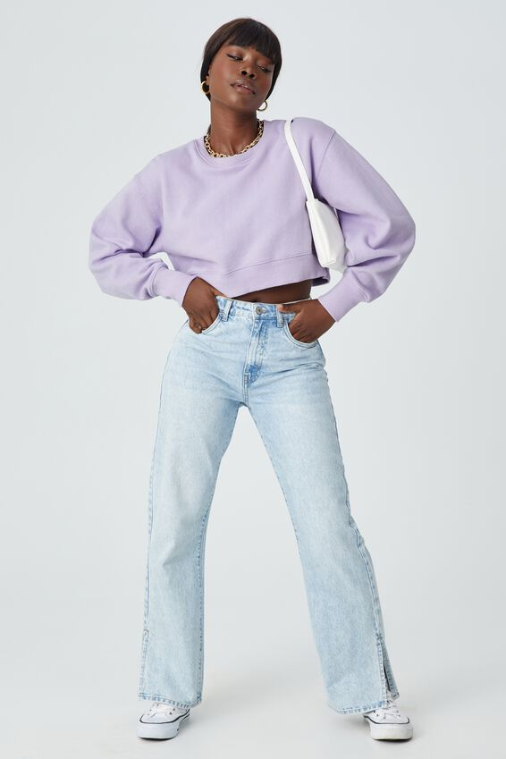 Louisa Cropped Jumper, FAIRY LILAC