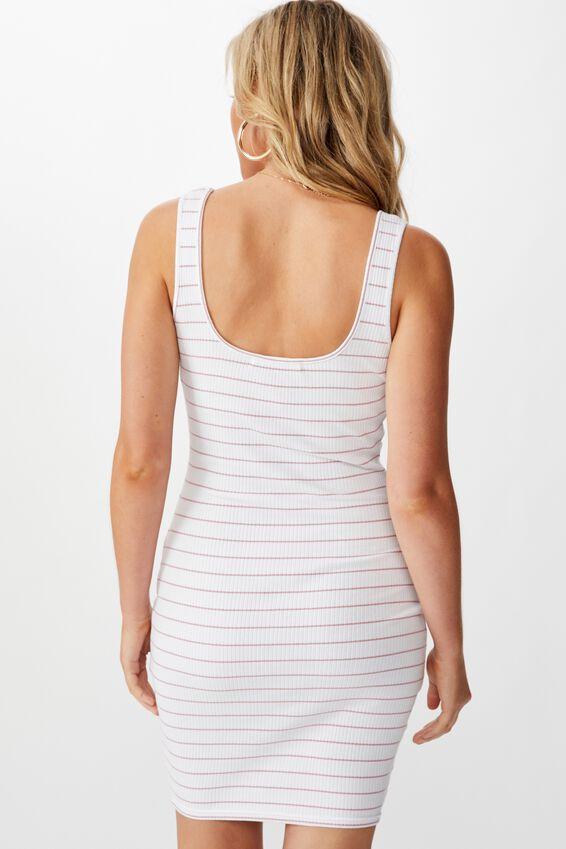 Ellie Tank Mini Dress, ANTIQUE ROSE WHITE