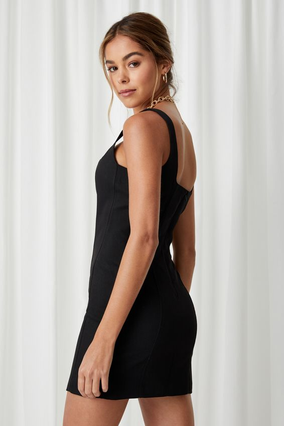 Phoebe Mini Dress, BLACK