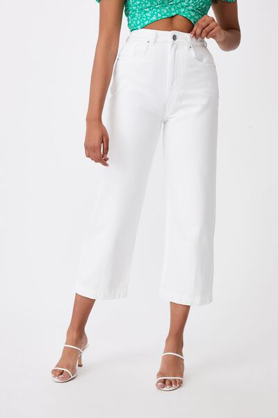 Wide Leg Jean, CLOUD WHITE