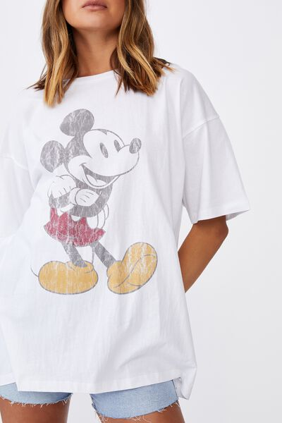 Carter Oversized T Shirt, WHITE/LCN DIS CLASSIC MICKEY
