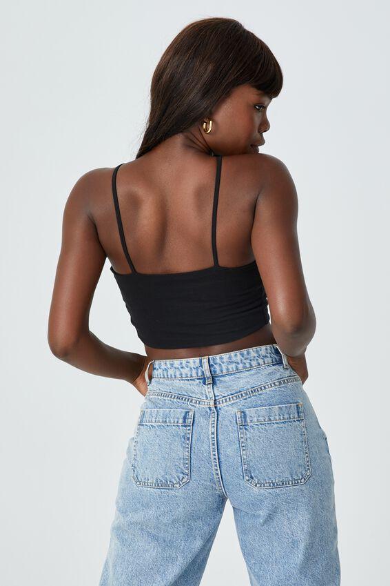 Orella One Shoulder Top, BLACK