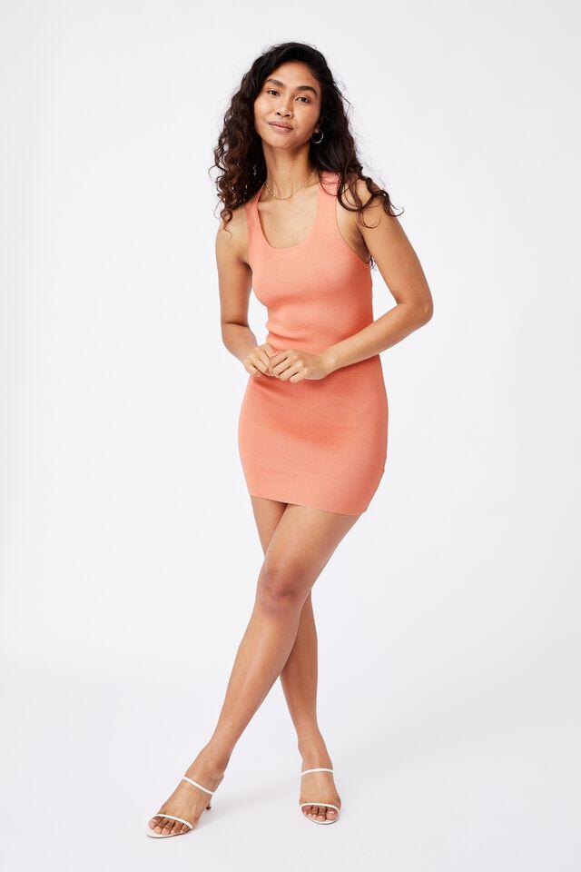 India Cutout Mini Dress, SHELL PINK