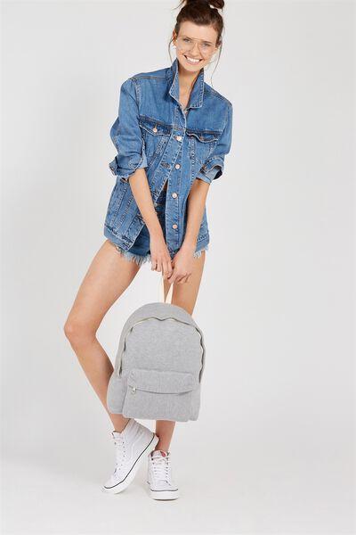 Jersey Backpack, GREY MARLE