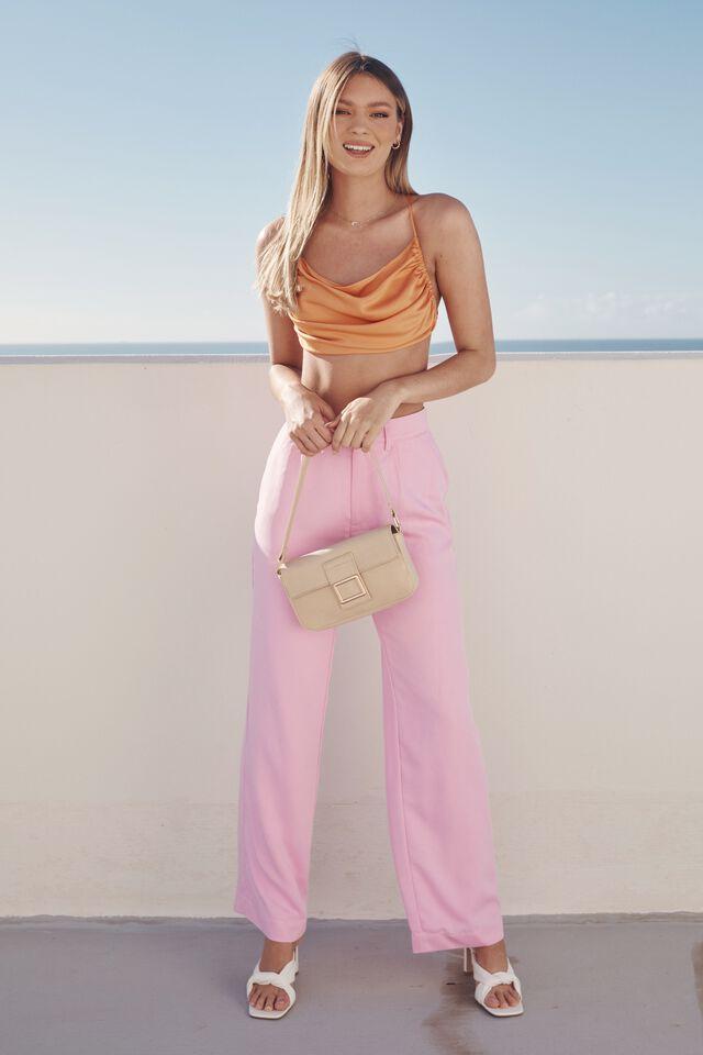 Mena Baguette Shoulder Bag, SUMMERSAND LIZARD
