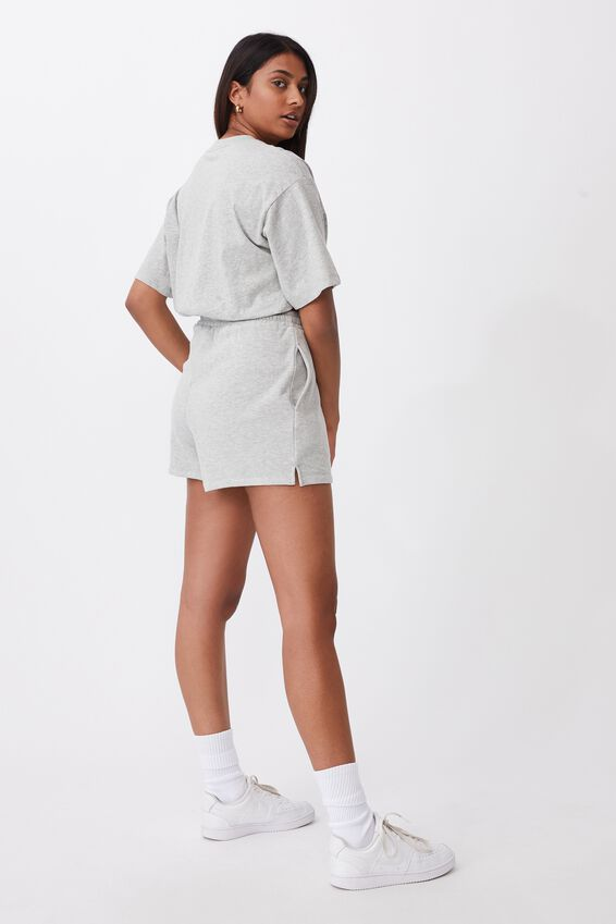 Hayley Sweat Short, GREY MARLE