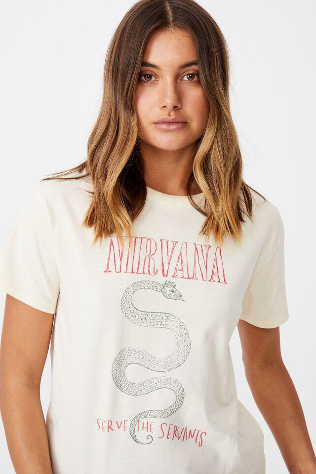 Nirvana Tee, SOFT STONE/LCN LIV NIRVANA SNAKE