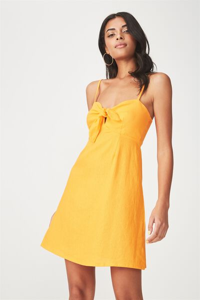 Harper Tie Front Dress, MANGO