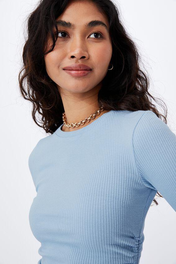 Frida Long Sleeve Mini Dress, CAPRI BLUE