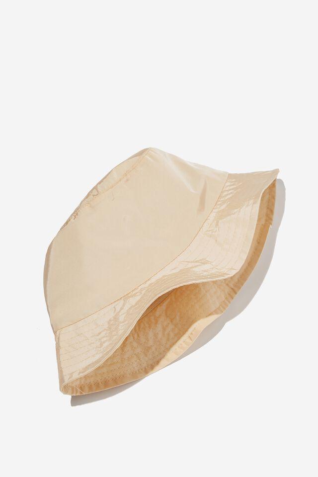 Tori Bucket Hat, PALE HONEY NYLON