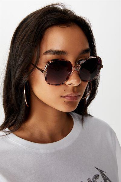 Pearl Round Oversized Sunglasses, MILKY TORT/SMK