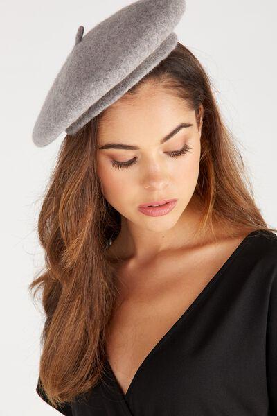 Tessa Beret Hat, LIGHT GREY