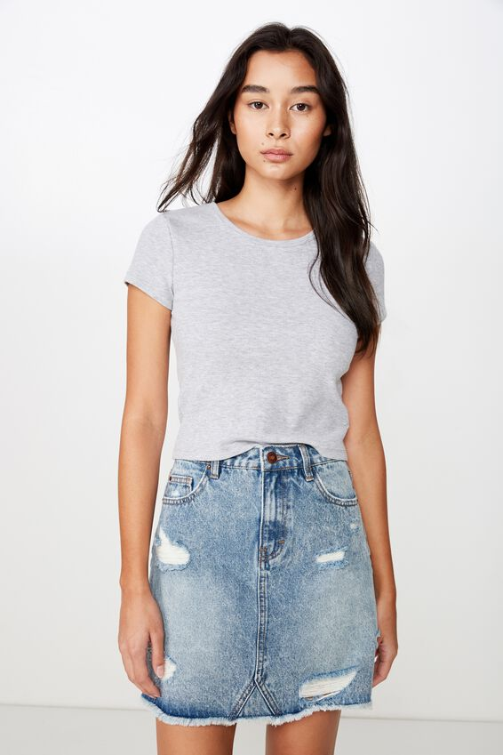 The Blair Aline Denim Skirt, ATLANTIC BLUE RIP