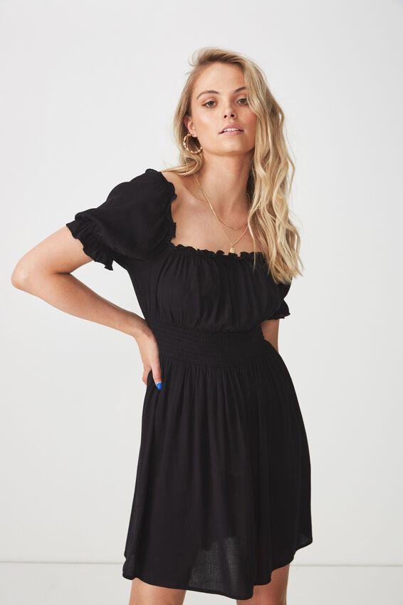 June Smock Waist Dress | Tuggl
