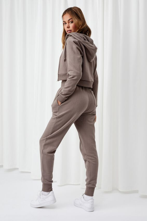 Erica Slim Fit Track Pant, CREAMY MOCHA