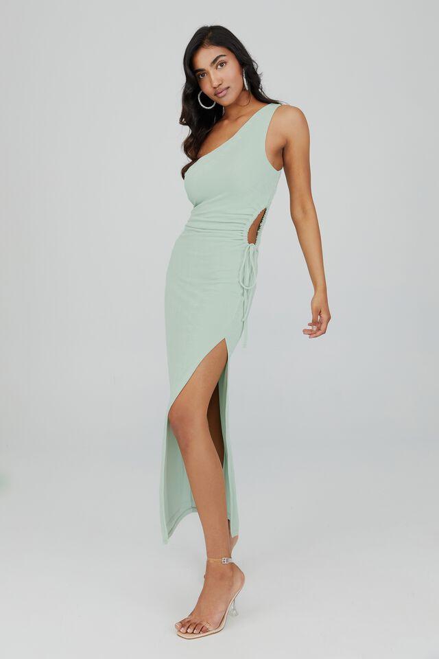 Tiffany One Shoulder Formal Dress, SEAGLASS