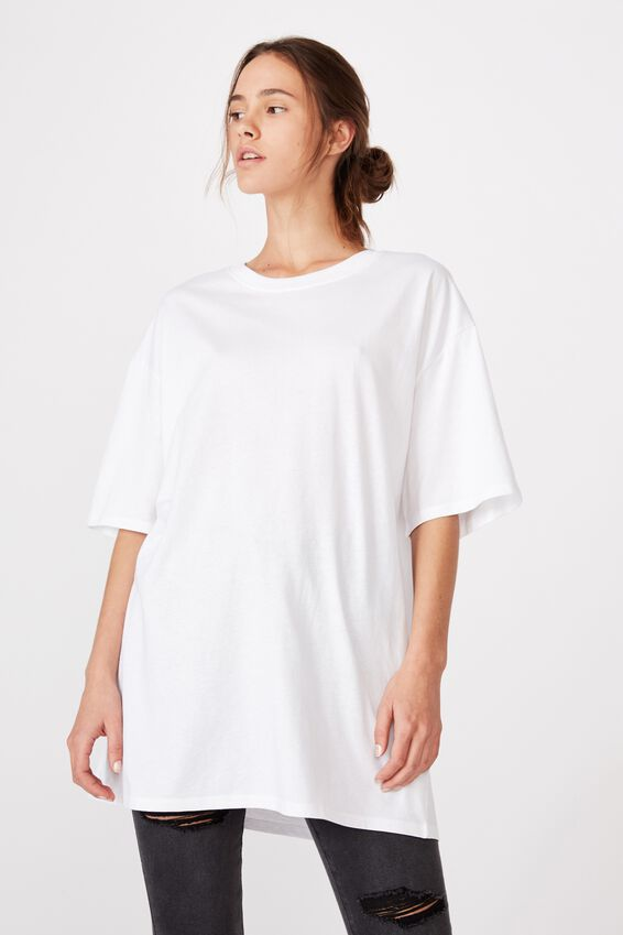 Bike Short Oversized Tee, WHITE