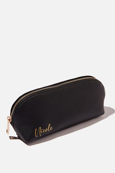 Personalised Mini Case, BLACK TEXTURE/GOLD
