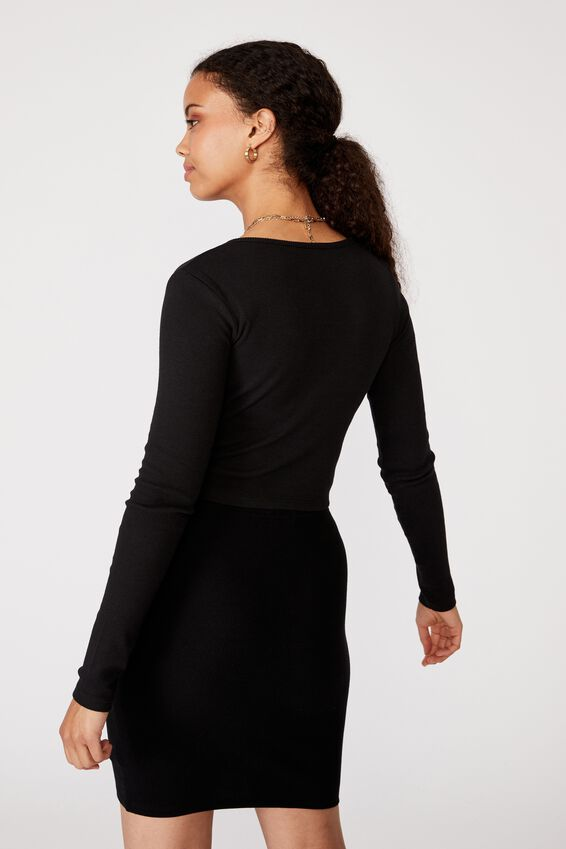 Shai Notch Front Top, BLACK
