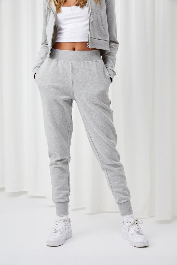 Erica Slim Fit Track Pant, GREY MARLE