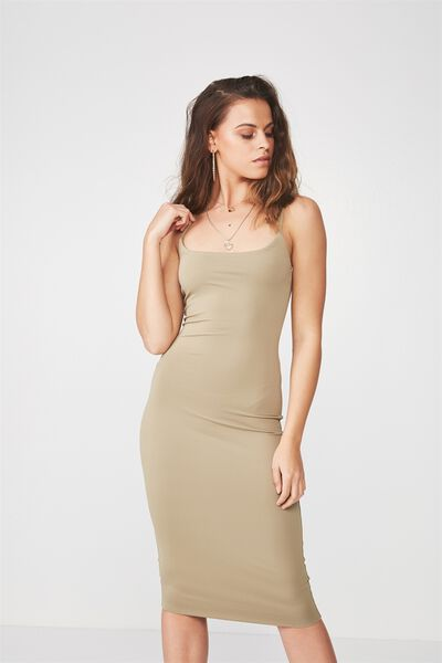 Party Thin Strap Midi Dress, SAGE GREEN