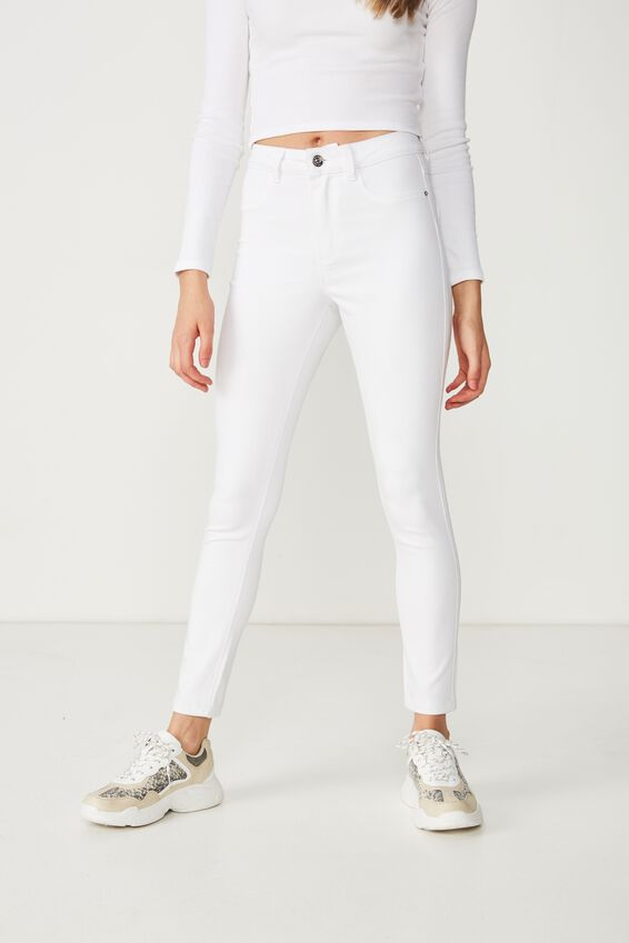 Short Super Skinny Jean, WHITE