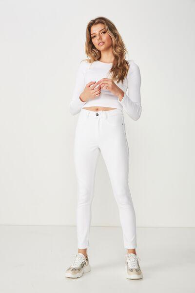 Short Super Skinny Jean, WHITE