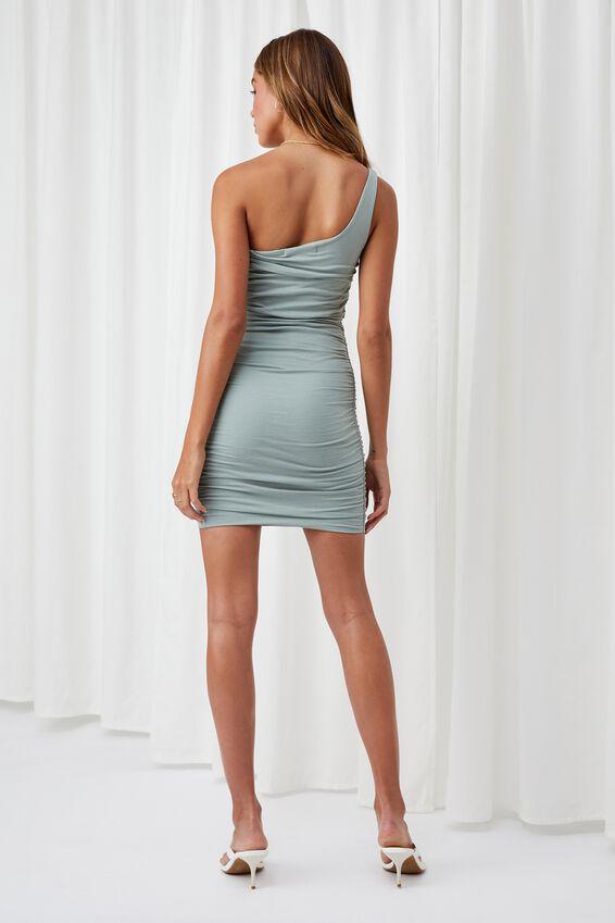 Miley Ruched Mini Dress, SOFT MOSS